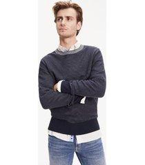 tommy hilfiger men's tonal cotton sweater sky captain - xs