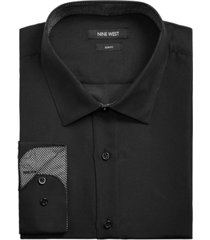 nine west men's slim-fit performance stretch solid dress shirt