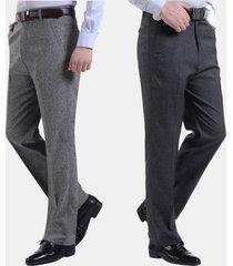 uomo casual pantaloni in lino morbido primaverili estivi da business