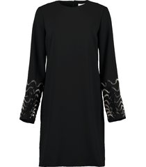 embellished sleeve shift dress
