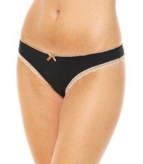 art 722 - bikini de microfibra con puntilla color negro