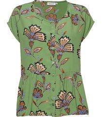idali blouses short-sleeved grön masai