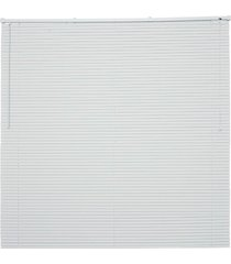 persiana horizontal pvc 25mm 160,5x140cm branco