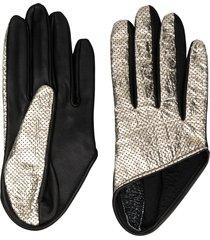 manokhi short perforated gloves - silver