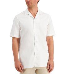 alfani men's solid camp shirt, created for macy's