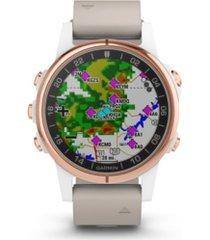 garmin d2 delta premium gps aviator watch in beige