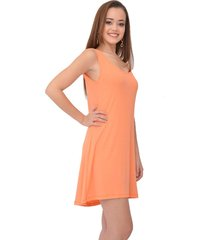 vestido curto urban lady regata liso coral
