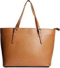 bolsa shopping bag couro house of caju lisa espaã§osa caramelo - caramelo - feminino - dafiti