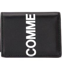 comme des garçons wallet huge logo wallet in black leather