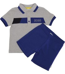 polo shirt sweat shorts set