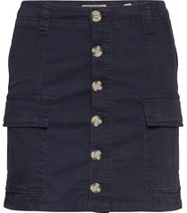 alchemy cargo mini skirt kort kjol blå superdry