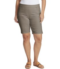 gloria vanderbilt women's plus size avery pull on bermuda short