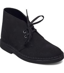 desert boot 2 shoes boots ankle boots ankle boot - flat svart clarks