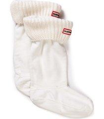 hunter half cardigan boot sock skor accesoarer vit hunter