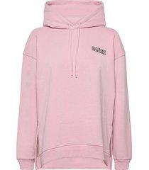 software isoli hoodie trui roze ganni