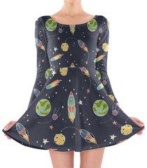 space flight longsleeve skater dress