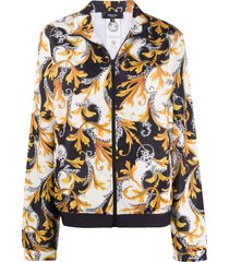 versace acanthus-print zipped jacket - gold