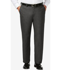 j.m. haggar big & tall classic fit stretch sharkskin flat front dress pants