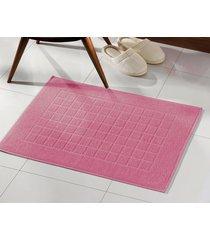toalha de piso dohler, royal, felpudo - rosa