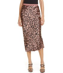 women's cami nyc the jessica silk skirt, size small - pink
