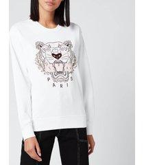 kenzo women's icon classic tiger sweatshirt - white - l