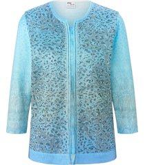 trui met ronde hals en lange mouwen van dingelstädter blauw