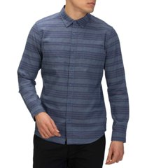 hurley men's armstrong stretch classic-fit yarn-dyed stripe shirt