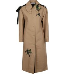 red valentino embroidered coat