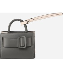 boyy leather bag charm with two-tone detail