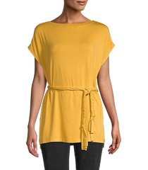 grecian belted tunic top