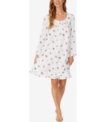 eileen west floral-print cotton jersey nightgown