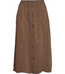 emmasz skirt knälång kjol brun saint tropez