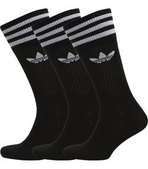 solid crew sock underwear socks regular socks svart adidas originals