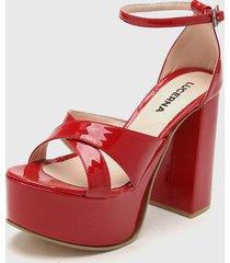 sandalia roja lucerna adele