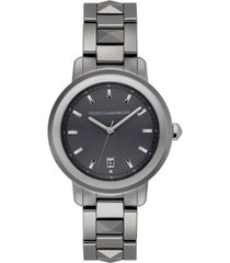 rebecca minkoff women's bffl silver-tone ceramic bracelet watch 36mm