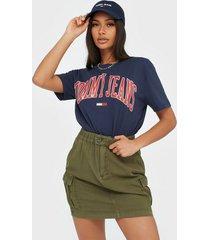 tommy jeans short cargo skirt olvt minikjolar