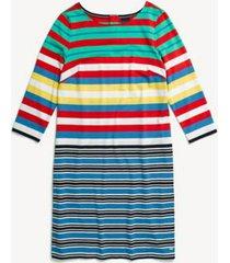 tommy hilfiger women's adaptive multi stripe dress bright white/ multi - xs
