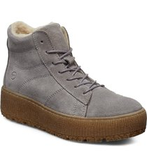 woms boots shoes boots ankle boots ankle boot - flat grå tamaris