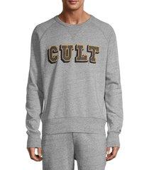 cult of individuality men's raglan-sleeve logo sweatshirt - heather grey - size l
