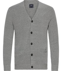 anf mens sweaters stickad tröja cardigan grå abercrombie & fitch