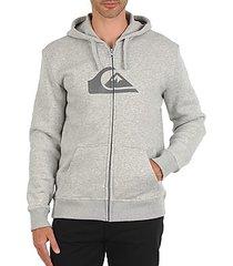 sweater quiksilver hood zip logo veds