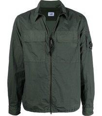 c.p. company zip-up two-pocket shirt - green