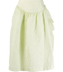 simone rocha single bite full skirt - green