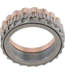 tateossian mechanical ring - silver