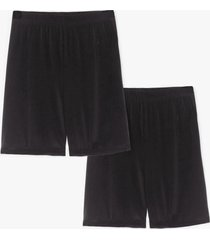 womens close to you 2-pc biker shorts set - black