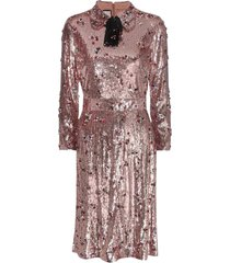 sequins with crystal embroidered dress