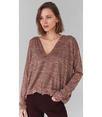 sweter oversize z głębokim dekoltem