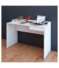 mesa escrivaninha 1 gaveta artany slim ii branca