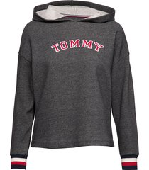 batwing hoody ls sweat-shirts & hoodies tops grijs tommy hilfiger
