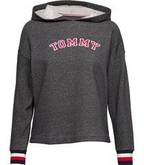 batwing hoody ls night & loungewear hoodies grijs tommy hilfiger